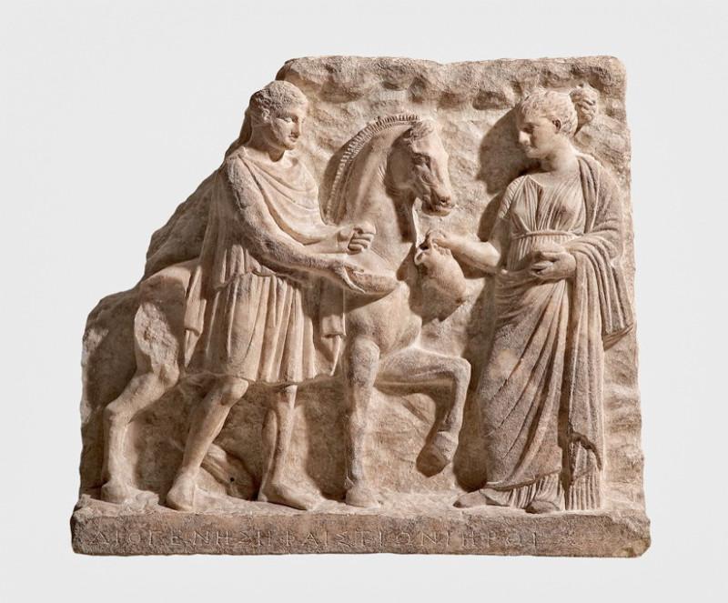 Вотивный рельеф с изображением Гефестиона. Последние два десятилетия IV в. до н.э. Мрамор.