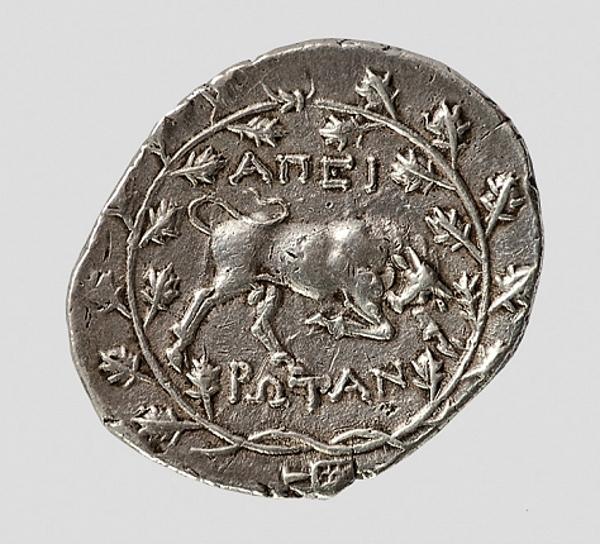 Дидрахма Эпирского союза. Около 175—168 гг. до н.э.