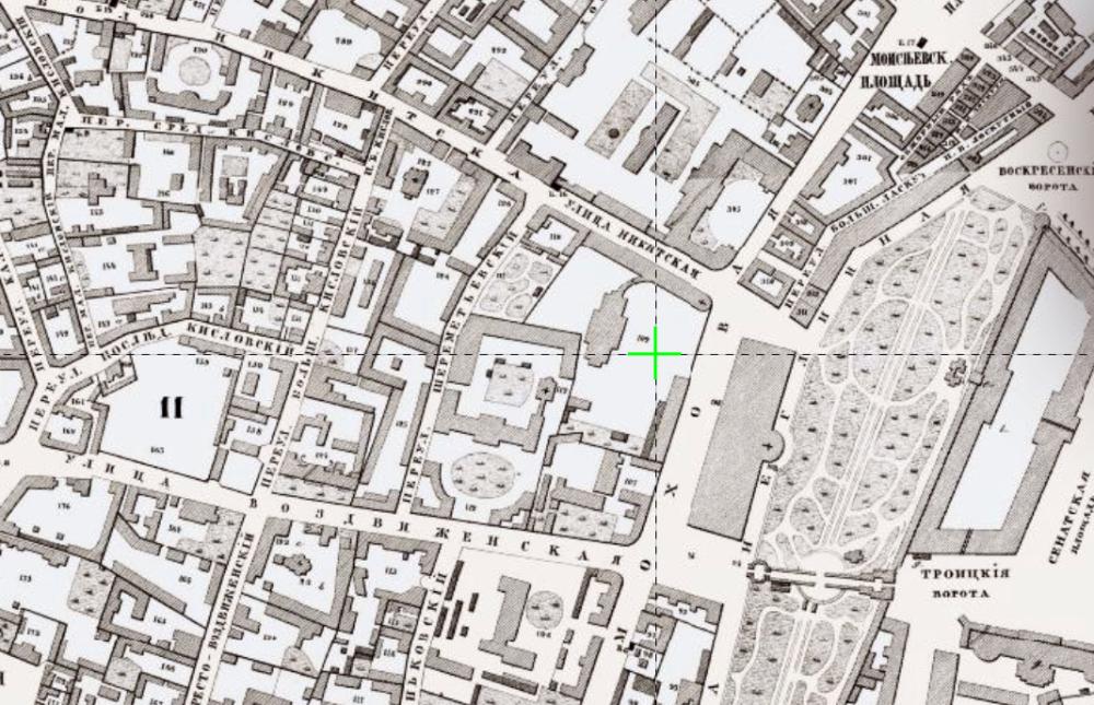 Хотеевский план Москвы 1852 года