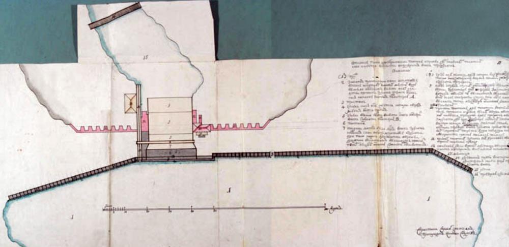 Общий вид плотины - план
