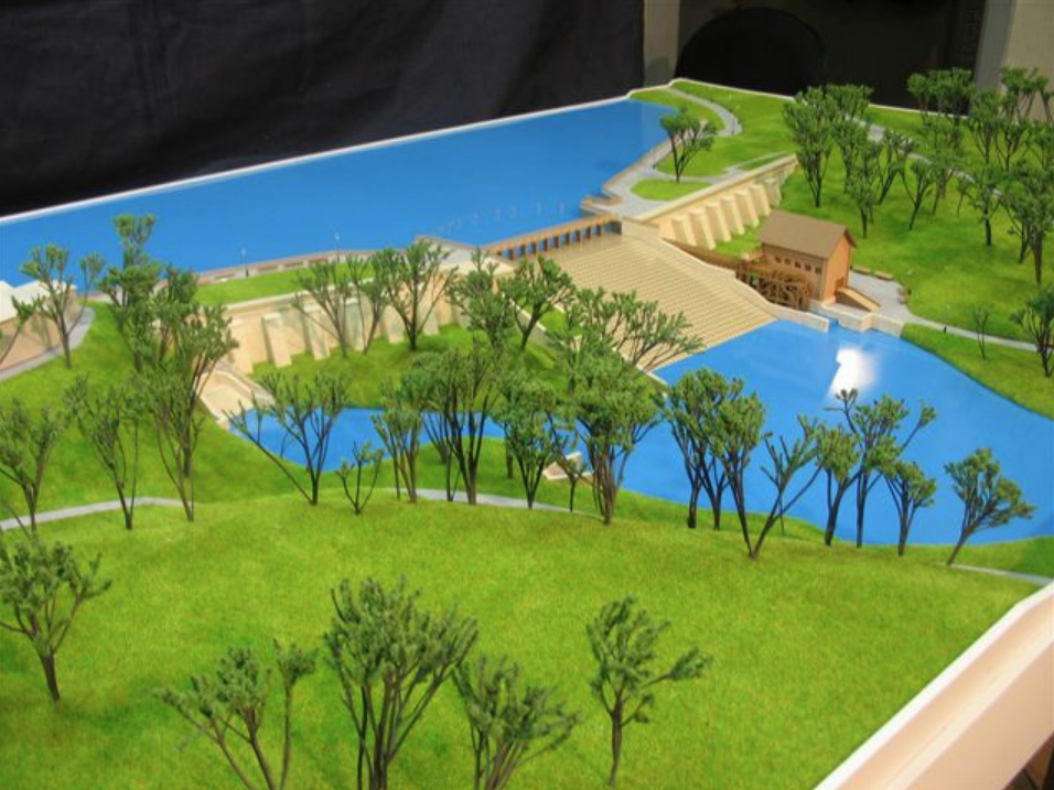 Общий вид плотины - проект