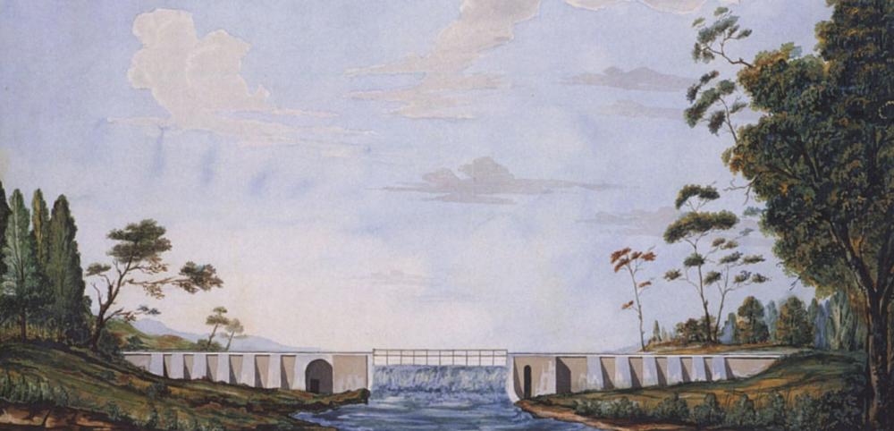Общий вид плотины