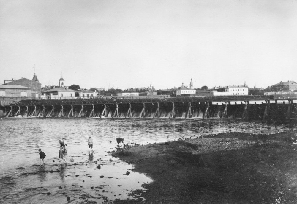 Бабьегородская плотина - 1910 год