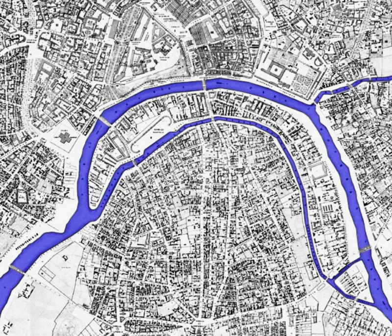 Проект канала - 1853 год - Хотевский план