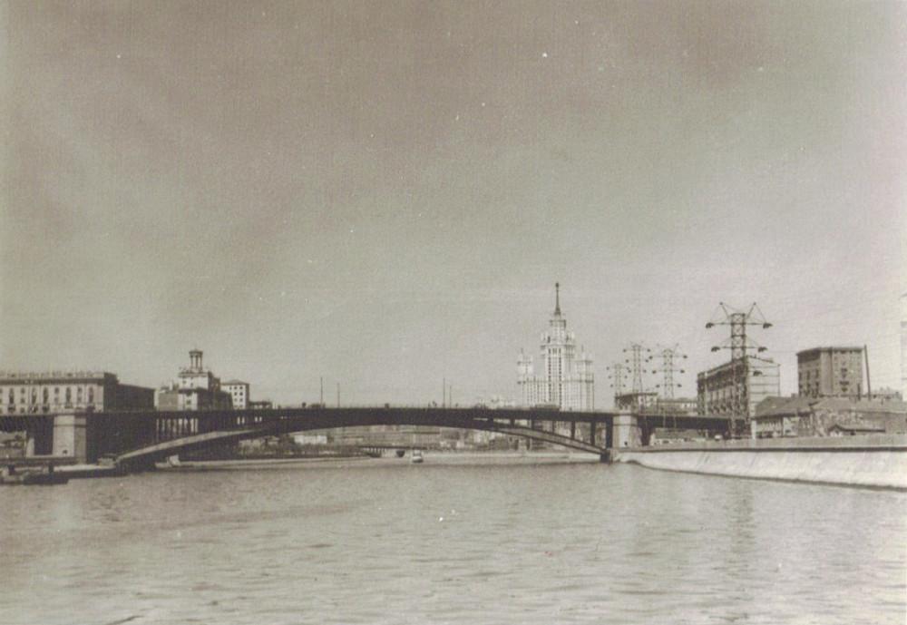 Большой Краснохолмский мост - 1953-1954 годы
