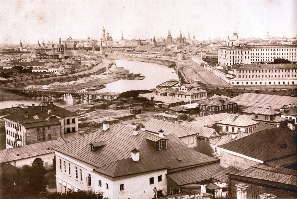 Мост через Москву-реку у устья Яузы, Ф. Бюро, 1872