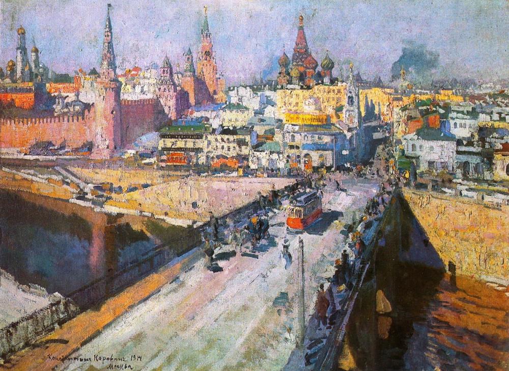 Москворецкий мост - Коровин К.А. - 1914 год