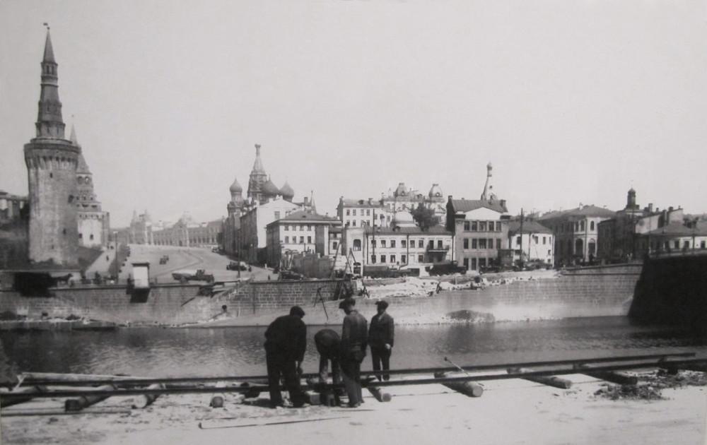 Начало строительства Большого Москворецкого моста - 1936 год