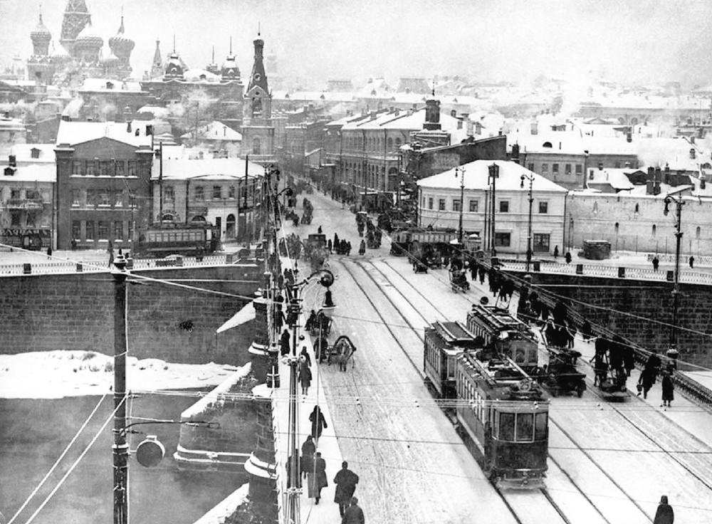 Старый Москворецкий мост - 1917 год
