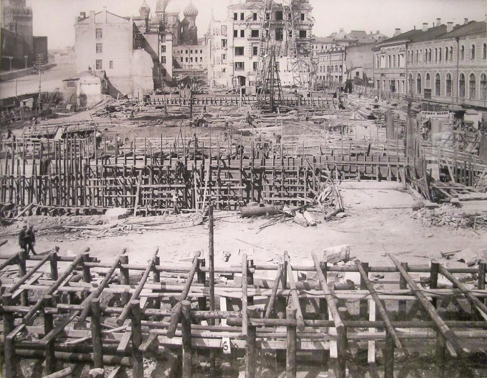 Строительство Москворецкого моста - 01