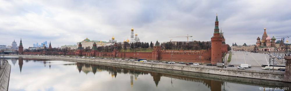 Вид на Кремль с Большого Москворецкого моста