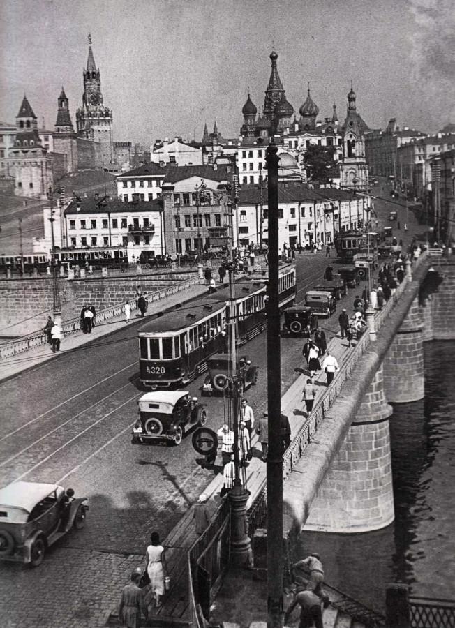 Старый Москворецкий мост - 1933-1934 годы.
