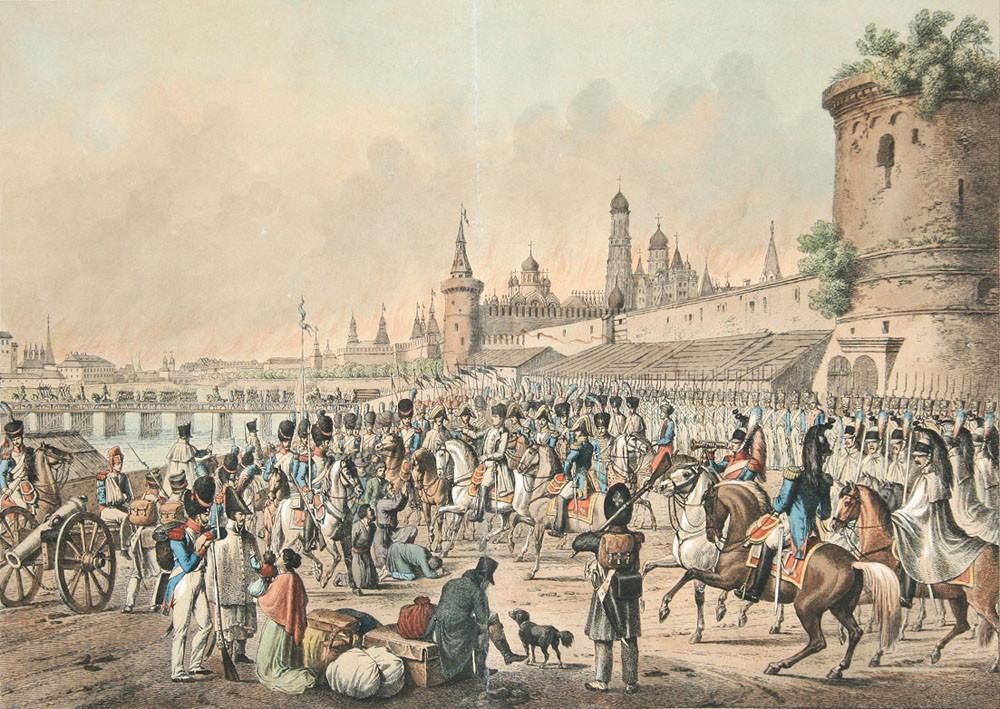 Пожар в Москве 1812 года - Иоганн Адам Кляйн. 1830 год.