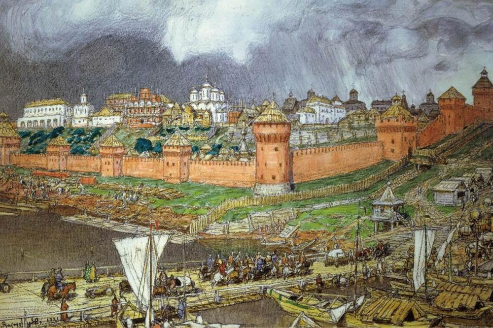Московский Кремль при Иване III. Васнецов А.М. 1894 год.