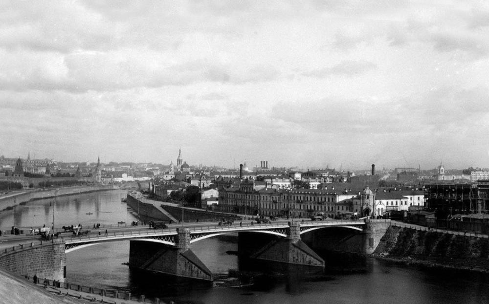 Вид на Большой Каменный мост - 1929 год.