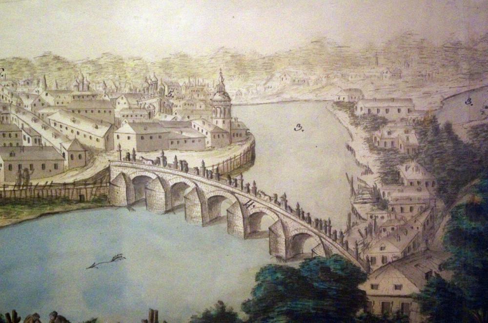 Франческо Тролли. Вид Москвы в сторону Каменного моста от угловой башни Кремля. Конец 1790-х - 02