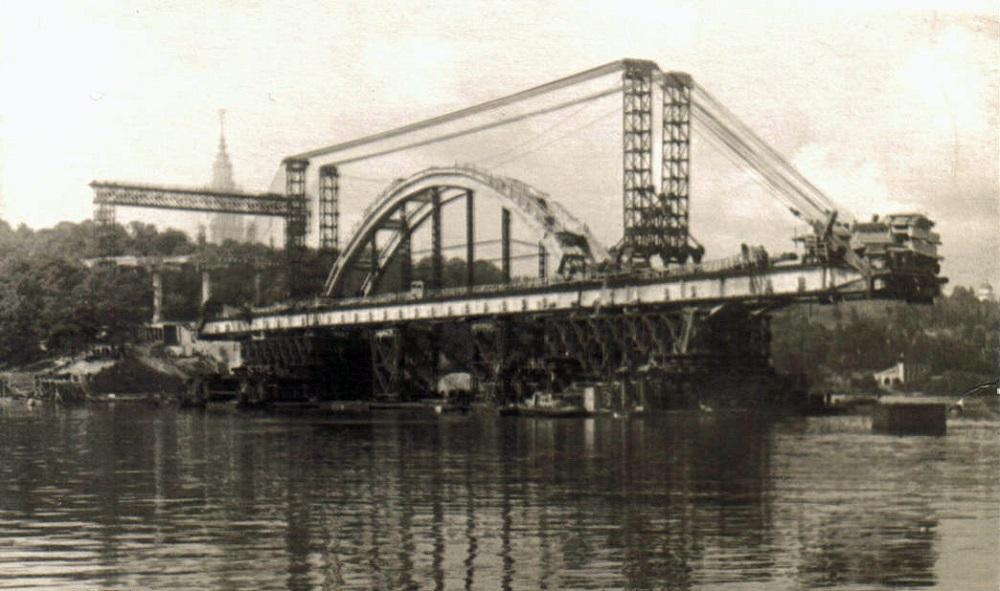 05. Строительство Лужнецкого моста. 1957 год.