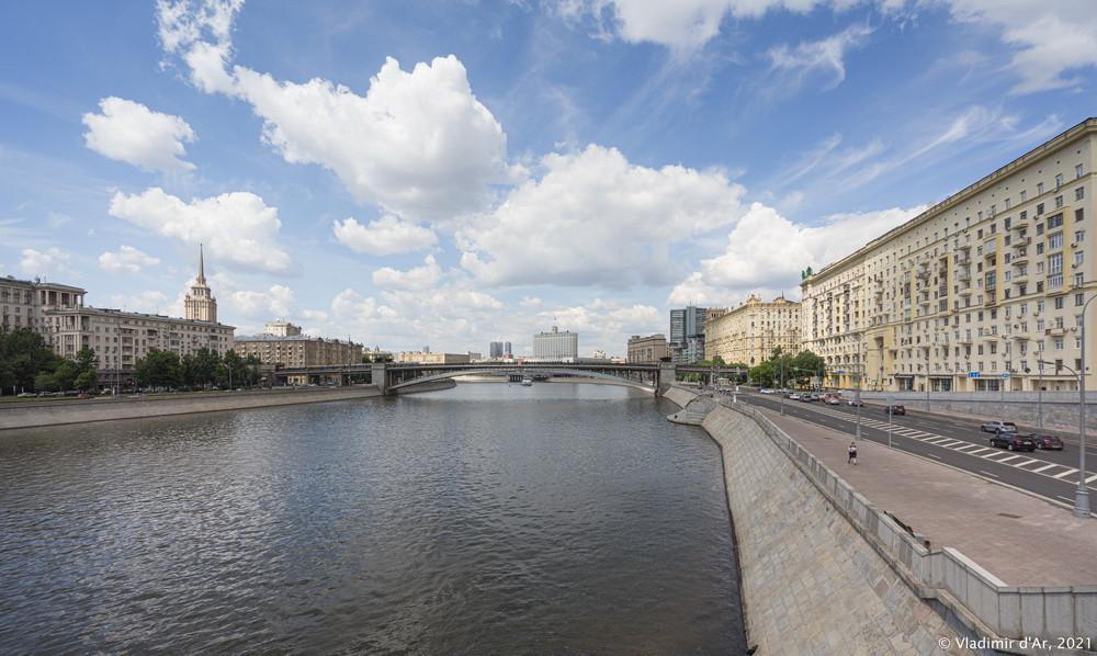 33. Смоленский метромост - вид с Бородинского моста