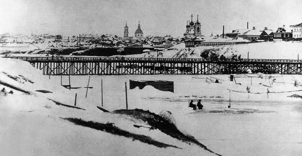 """03. Дорогомиловский """"живой"""" мост. 1860-1867 годы."""