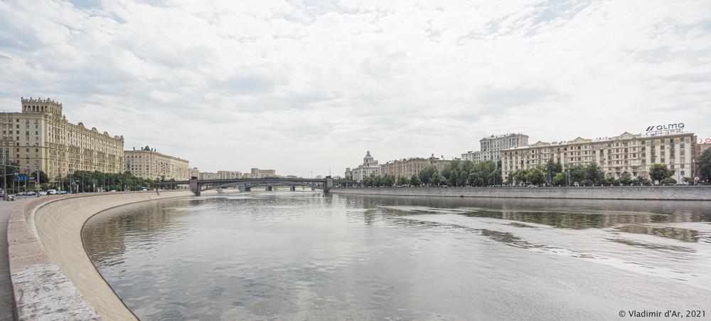25. Смоленский метромост - вид с Новоарбатского моста