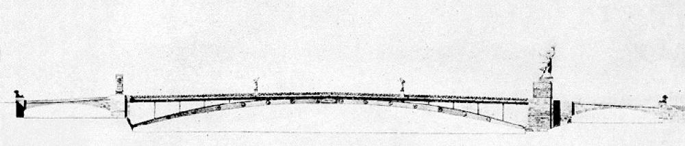 04. Проект Новоарбатского моста. Архитектор Н.Я. Колли. 1940 год.
