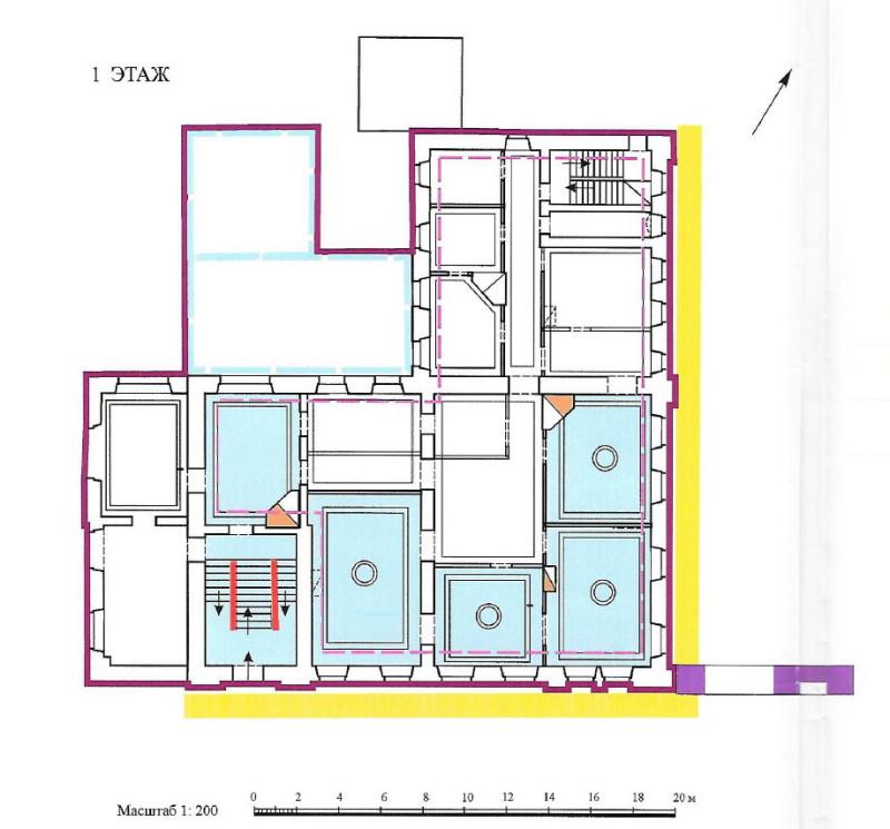 Дом С.И. Елагина - 1-й этаж