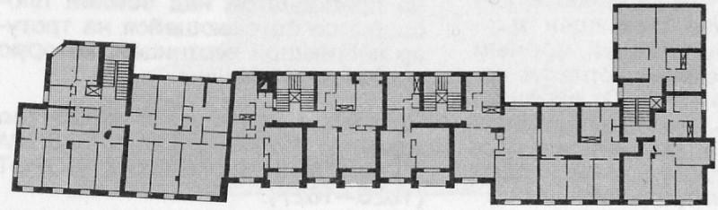 Поэтажный план. 1930-е гг.
