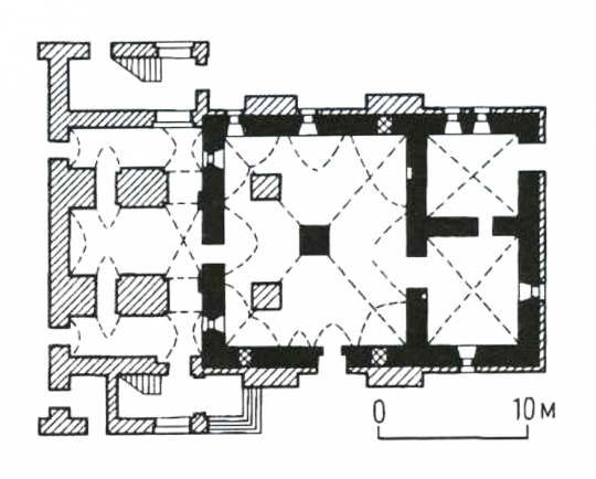 27. План подклета Сретенской церкви