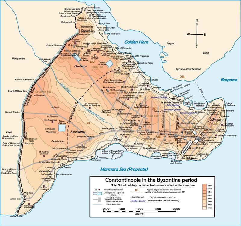 Константинополь - стена Феодосия