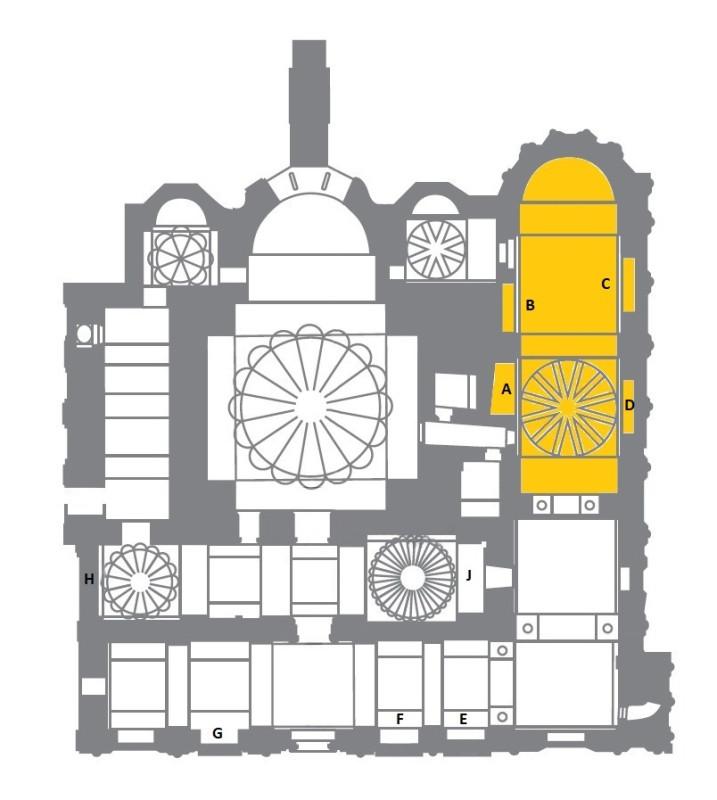 Парэкклесий и могилы церкви Христа Спасителя в Полях
