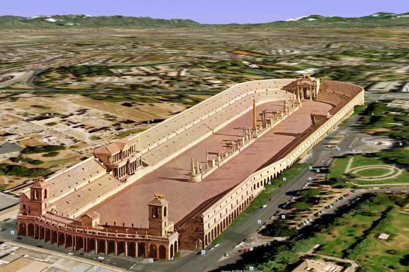 Большой цирк (Circus Maximus) в древнем Риме
