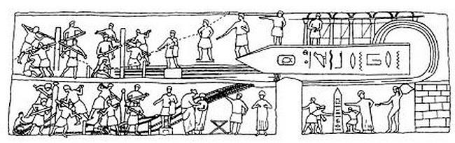 Процесс транспортировки обелиска