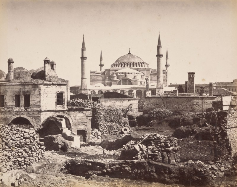 Стамбул - вид на Айя-Софию с запада
