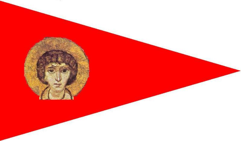 Знамя Гасанидов с изображением лика св. Сергея
