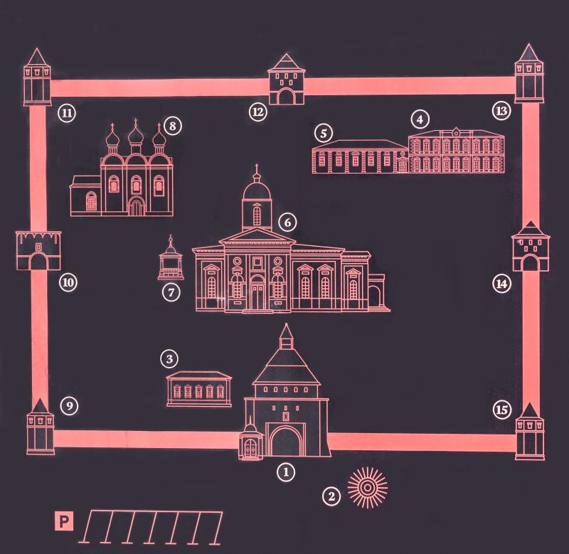 Зарайский кремль - достопримечательности