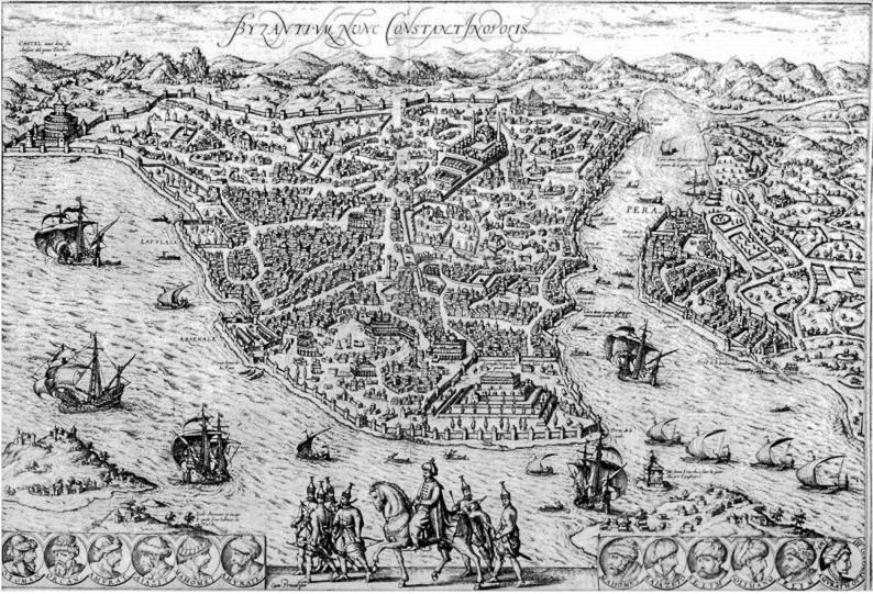 Девичья башня на старой карте