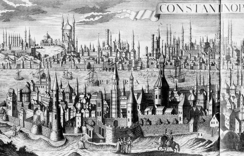Северо-восточная часть Галаты. Фрагмент гравюры Мейснера. 1638 год.
