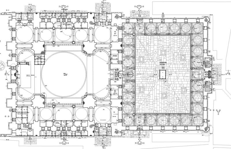 Мечеть Сулеймание в плане