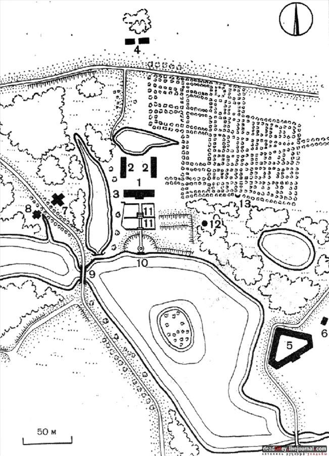 План-схема Марфино