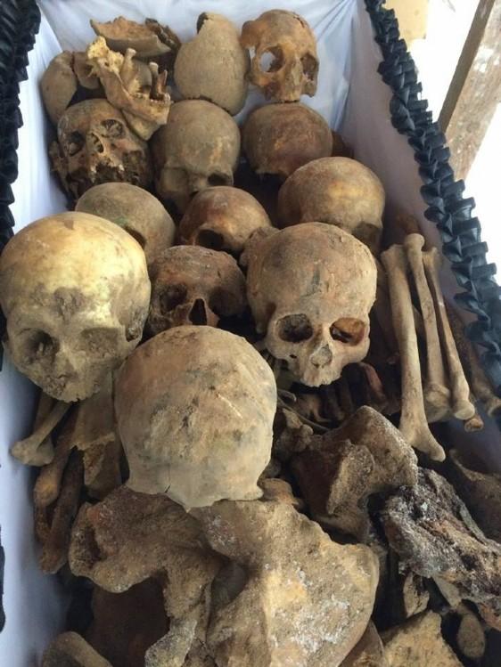 Человеческие останки некрополя Андроникова монастыря