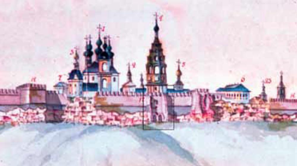 Тайник - вид со стороны Бобреневского монастыря