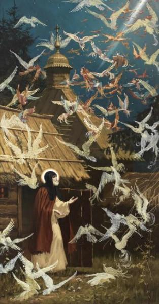 Видение чудесных птиц преподобному Сергию Радонежскому
