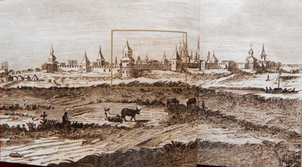 Коломенский кремль с северной стороны