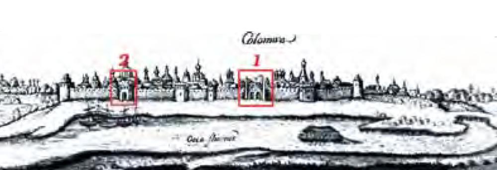 Тайник с арками и Бобреневская башня