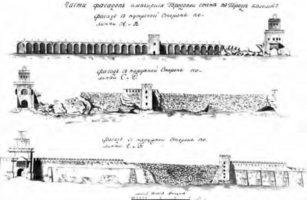 Прясло от Свибловой башни до Пятницких ворот - Застеночная башня