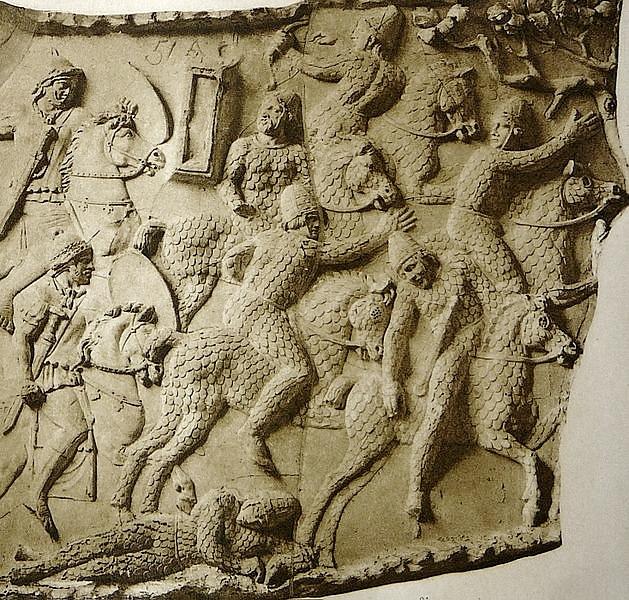 Барельеф колонны Траяна - сарматы в дакийской войне