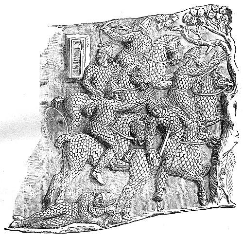 Изображение сарматов на Колонне Трояна (2 в. н.э.) - графическая прорисовка