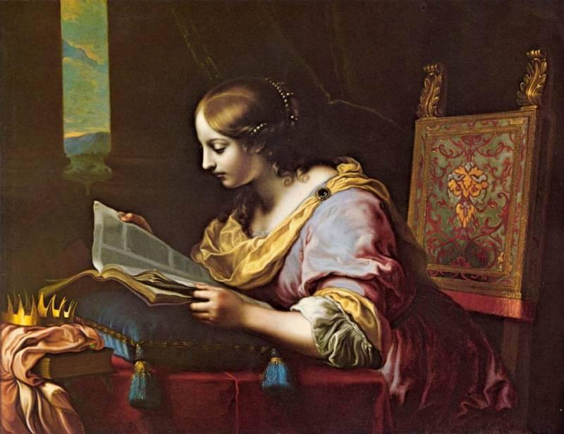 003 - 003 - Святая Екатерина - Святая Екатерина, читающая книгу. (Карло Дольчи) - 02