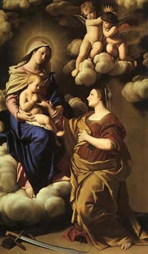 004 - 002 - Святая ЕкатеринаОбручение святой Екатерины - Джованни Баттиста Сальви