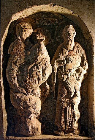 Белокамерная икона Богоматери и Св. Иоанна Богослова
